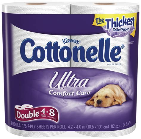 Who Makes Cottonelle Toilet Paper - cottonelle ultra toilet paper roll 12 4 pack white