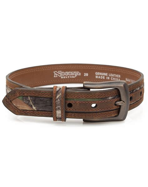 nocona kid s western camo belt brown