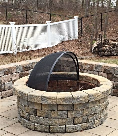Firepit Screen Custom Stainless Steel Pit Spark Screens For All Pits Shown Is A 40 Quot Center Pivot