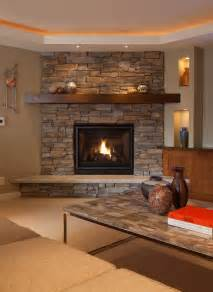 Bedroom Fireplace Ideas stone corner fireplace family room rustic with ceiling fan