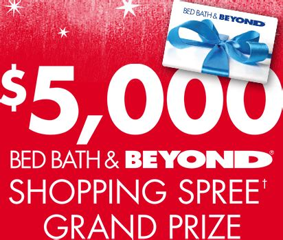 bed bath and beyond sweepstakes bed bath beyond holiday your way sweepstakes
