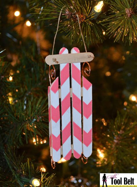 11th day of christmas wood sled ornament her tool belt