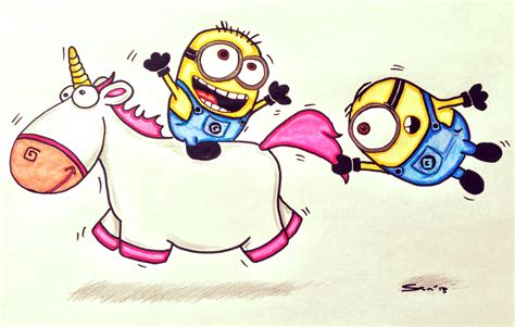 how to draw a doodle unicorn how to draw minions unicorn drawing
