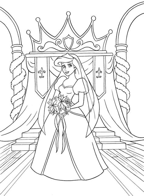 princess ariel coloring pages walt disney coloring pages princess ariel kleurplaat