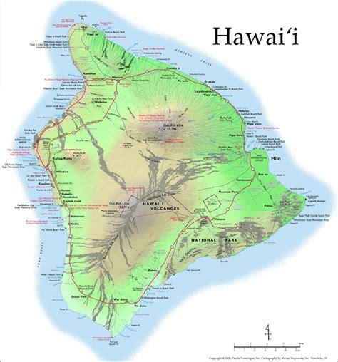 hawaii big island map hawaii volcanoes the hawaiian islands and how the hawaiian islands were made