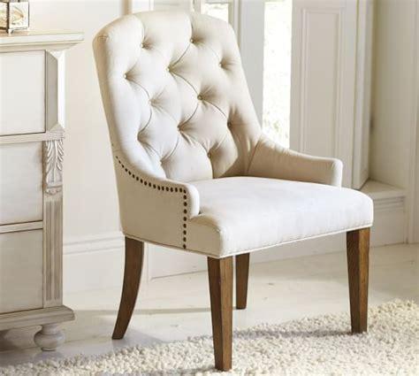 tufted armchair lorraine tufted chair pottery barn