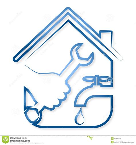 repair plumbing vector stock vector image 41806259