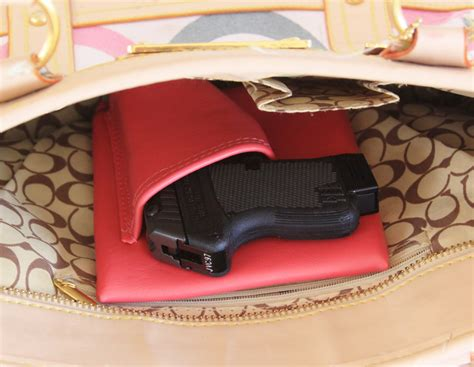 mini concealed mini auto pink concealed carry purse holster 380 lcp p380