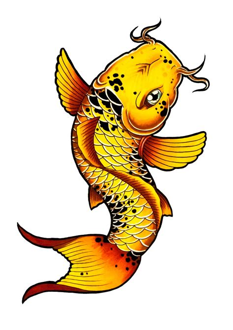 how to draw a koi fish tattoo style by thebrokenpuppet