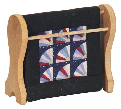 Amish Quilt Racks by Amish Mini Quilt Rack With Fan Pattern Quilt