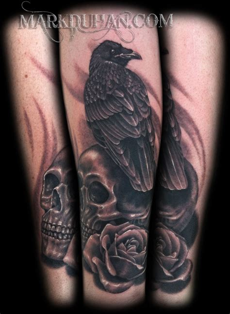 raven and skull tattoo image result for and ink