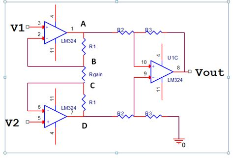 resistor bridge lifier circuit op connecting wheatstone bridge to pin 3 of lm324 changes voltage electrical