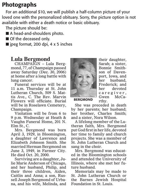 newspaper obituary template 14 free obituary templates to help you out in word