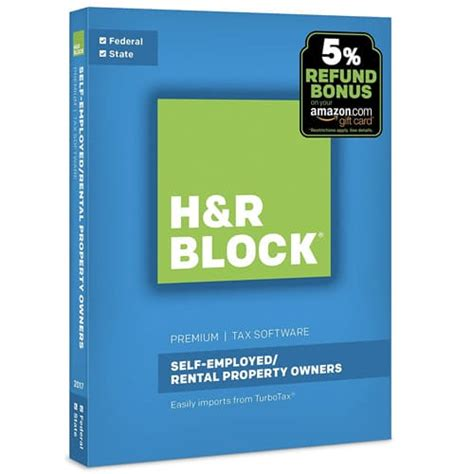 H R Block Gift Card Bonus 2017 - today only amazon h r block tax software premium 2017 refund bonus offer 29 99