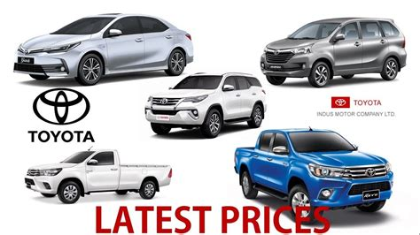 toyota all cars toyota all cars prices in pakistan september