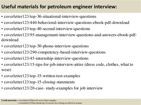 petroleum engineer cover letter top 5 petroleum engineer cover letter sles