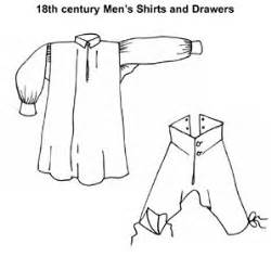 shirt pattern diagram amazon com 18th century men s shirts drawers pattern