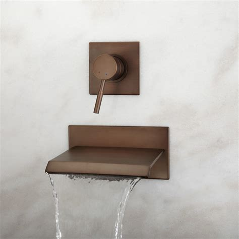 signature hardware maleko wall mount waterfall bathroom signature hardware lavelle wall mount waterfall tub faucet