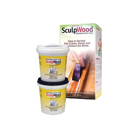 system three 1 qt sculpwood paste two part epoxy paste
