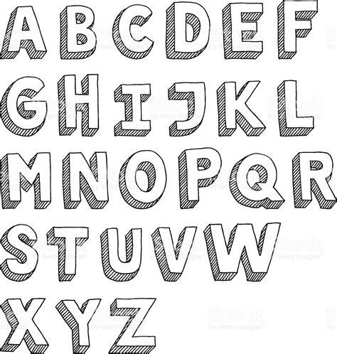 how to draw doodle letters alphabet capital letters sans serif dessin stock vecteur