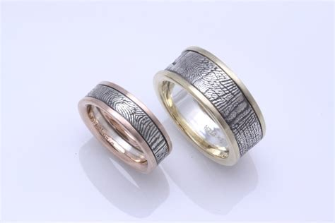 fabulous wedding bands with fingerprint general