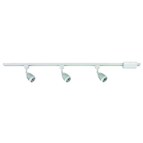hton bay 3 light white linear track lighting kit