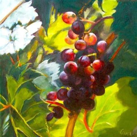 grape paintings on canvas