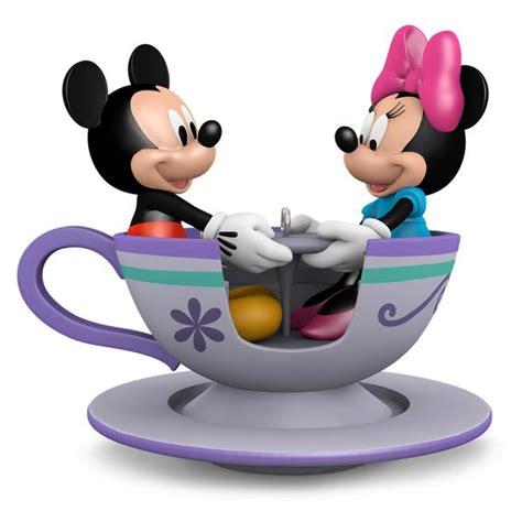 mickey and minnie mouse ornaments hallmark disney teacup mickey minnie mouse 2016