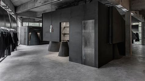black store in a world of prolific timber fashion house heike gets rebellious