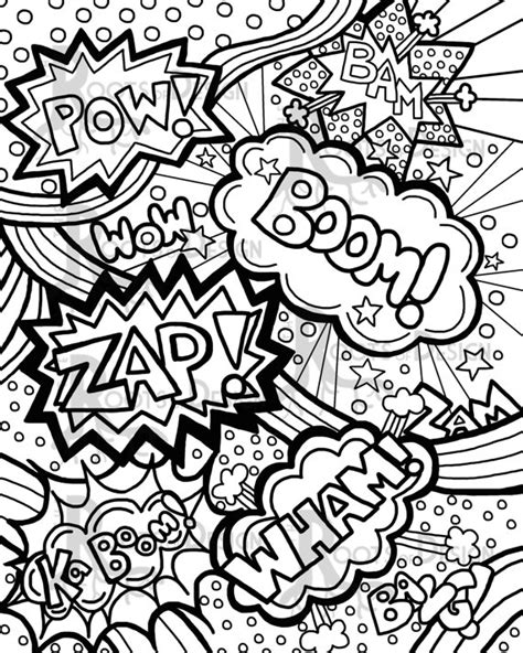 pop art coloring pictures diannedonnelly com