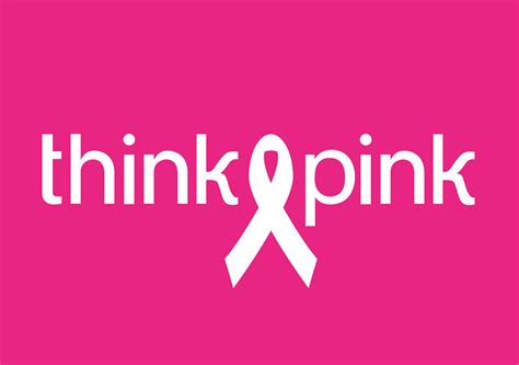 And Think Pink zij kant draait een plaatje voor think pink zij kant