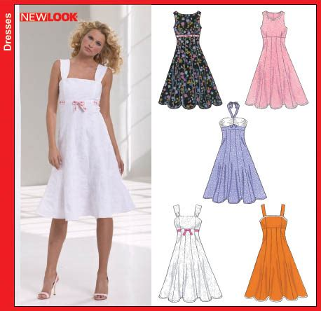 fashion pattern design software reviews new look new look 6589 misses dresses
