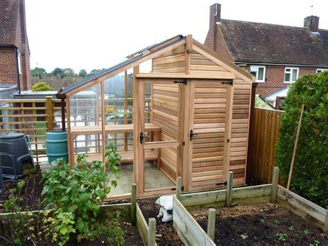 centaur shed combo greenhouse  shingle roof