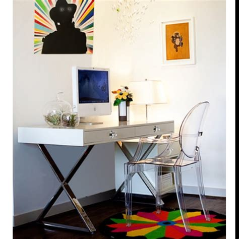Ghost Desk Chair jonathan adler desk ghost chair working spaces