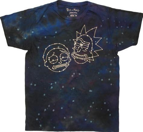 Rik Tye Dye rick and morty constellation faces tie dye t shirt