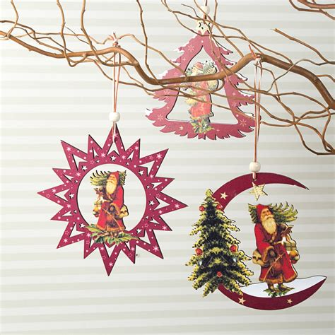 wooden tree decorations nostalgic wooden tree decorations by the