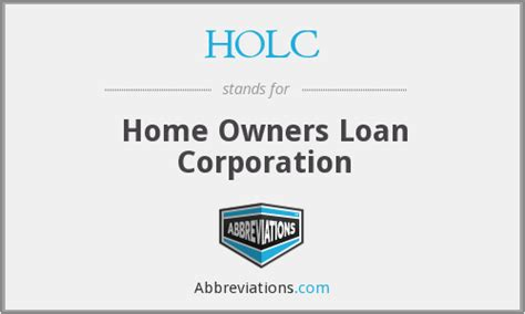 holc home owners loan corporation