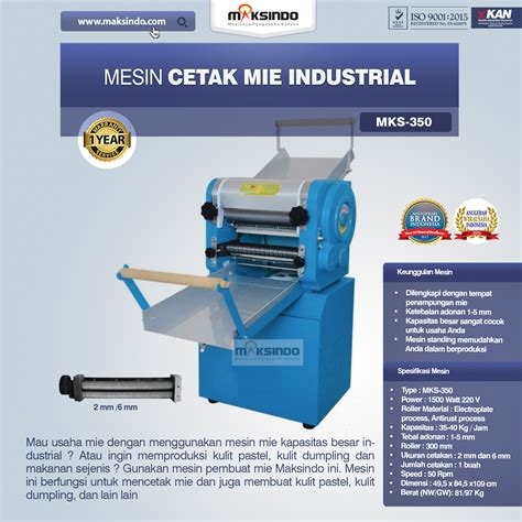 jual mesin cetak mie industrial mks   mataram