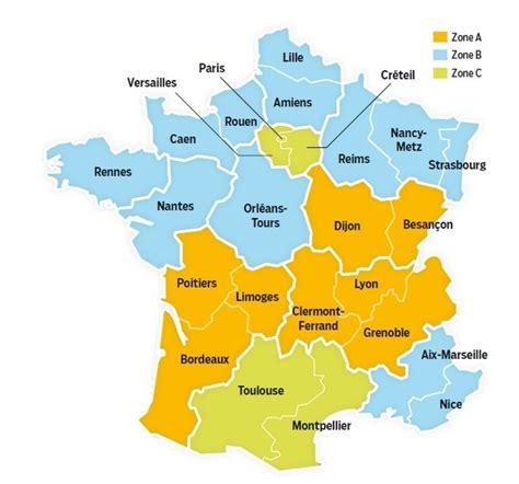 Calendrier 2016 Vacances Scolaires Montpellier Nouvelles Zones De Vacances Scolaires Depuis Janvier 2016