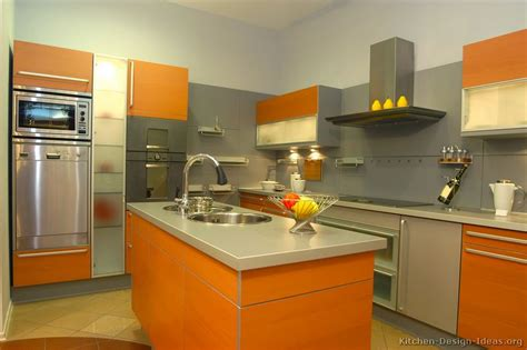 orange kitchen design pictures of modern orange kitchens design gallery
