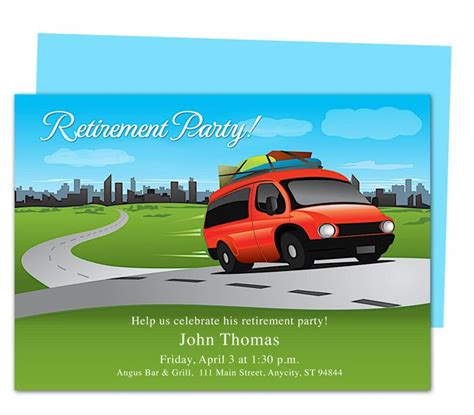 Microsoft Retirement Card Template by Trip Retirement Invitations Templates Diy Printable