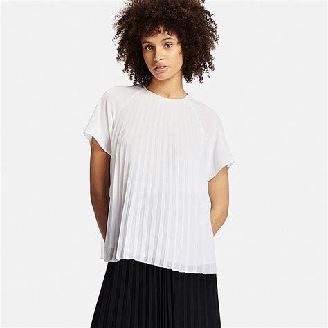 Pleated Sleeve Blouse pleated sleeve t blouse uniqlo us