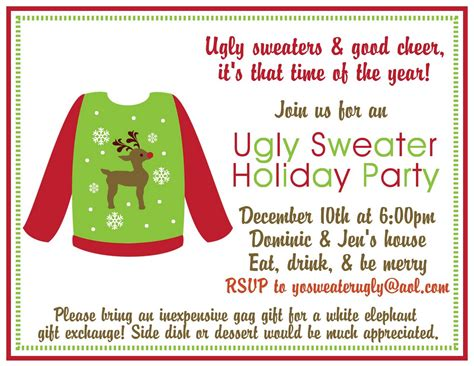 ugly sweater party holiday party ideas delightfully noted