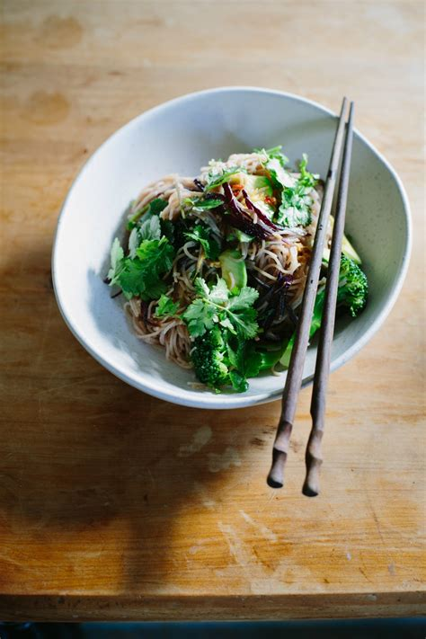 rice noodle salad rice noodle salad with avocado broccoli soy dressing my lemon thyme
