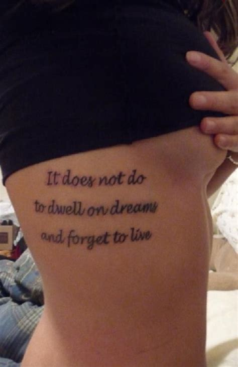 side quote tattoos quote on side rib