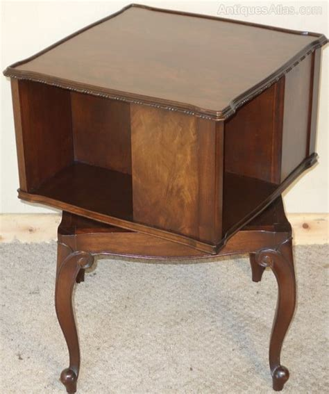 Bookcase Table by Revolving Walnut Book Table Bookcase Antiques Atlas