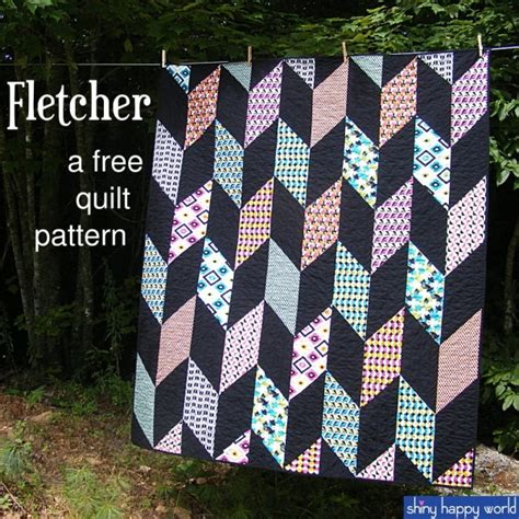 Free Chevron Quilt Pattern by Quilt As You Go Quilting Chevrons Fletcher Free