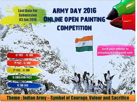 india competition indian army day open painting competition 2016