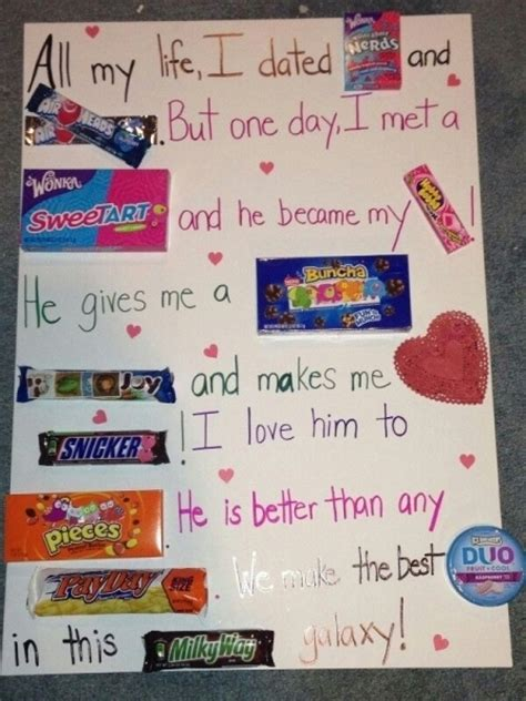cute ideas for valentines day for him cute valentines day ideas for him with candy1000 ideas about candy poster boyfriend on pinterest