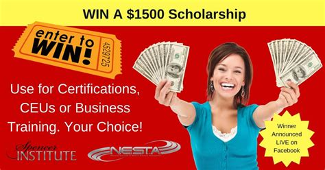 Scholarship Giveaway - scholarship personal trainer certification nutrition courses fitness education